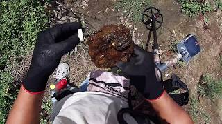 ENORME PEDASO DE ORO (((  BIG GOLD NUGGET))) metal detecting