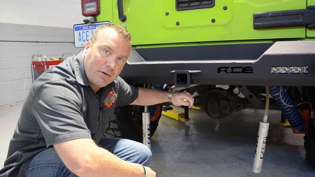 How to Install the ACE JK Pro Series Rear Bumper with Tire ...