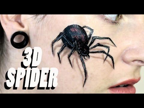 Halloween Spider Face Makeup 3d Spider Makeup   Halloween