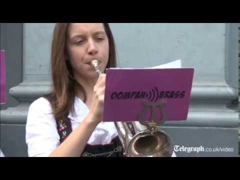 German Oompah band play The Final Countdown