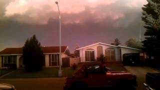 Crazy storm front in edmonton (Calm before the storm)