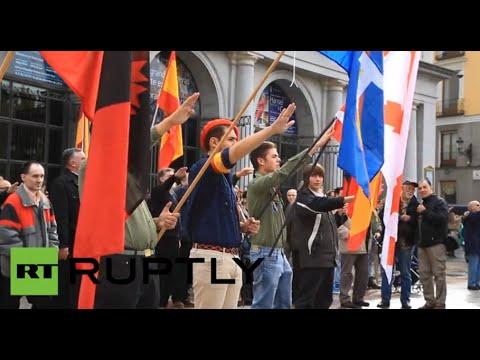 Nazi-saluting & Swastika: General Franco's anniversary celebrated in Madrid