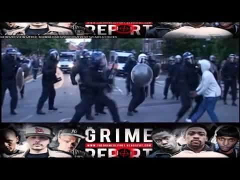UK RIOTS 2011 - RIOTER GETS HIS  HEAD CRACKED