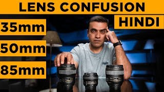 35mm 50mm 85mm CameraLens comparison | Hindi Photography