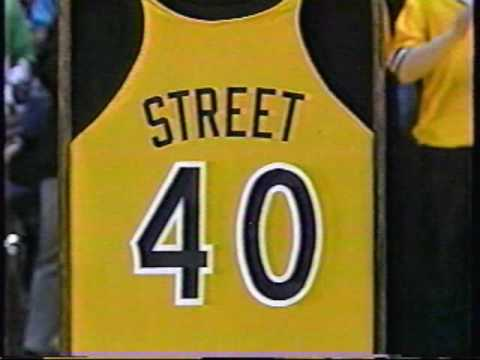 1993 Iowa basketball - Chris Street's #40 retirement ceremony