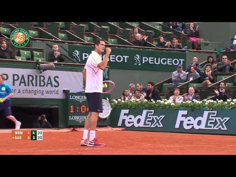 Roland Garros 2014 Monday Highlights Garcia Lopez Wawrinka