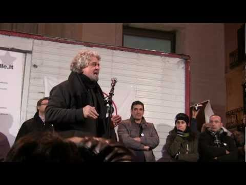 Beppe Grillo a Matera (20/01/2013) - Tsunami Tour 2013 - (Video Integrale HD)