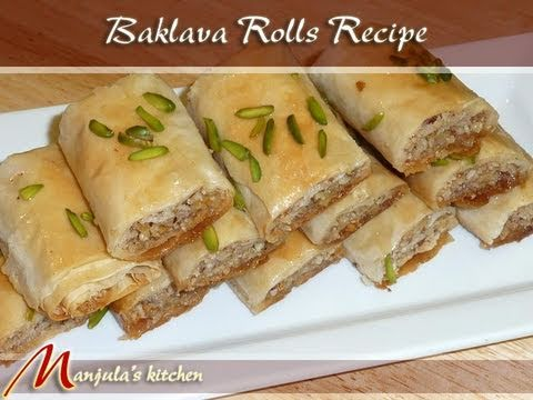 Baklava Recipe Indian Baklava Rolls Recipe by