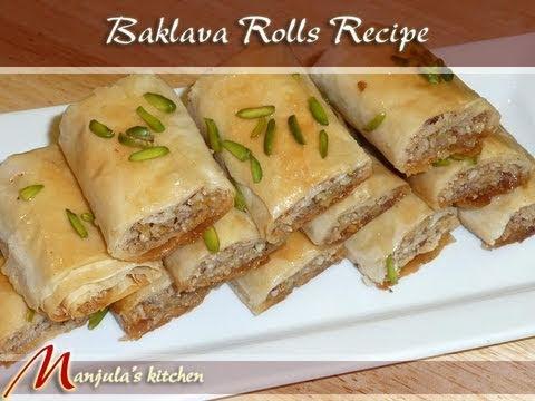 Baklava Recipe Turkish Baklava Rolls Recipe by