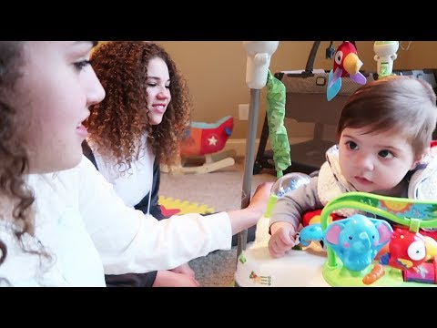 Our First Time Babysitting!! (Haschak Sisters)