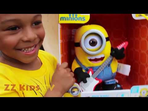 Biggest Minions Toy Box Surprise⎜ZZ Kids TV Toys Family Fun