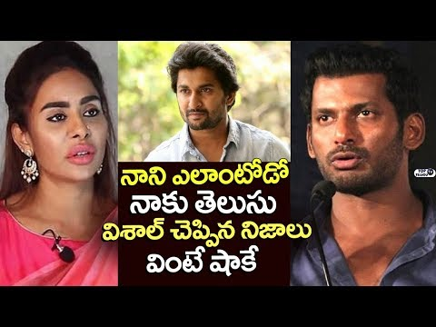 Hero Vishal Shocking Comments on Sri Reddy Over Her Issue with Nani | Top Telugu TV