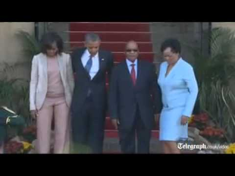 President Barack Obama meets Jacob Zuma in South Africa
