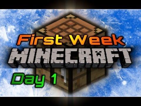 First Week of Minecraft: Day 1