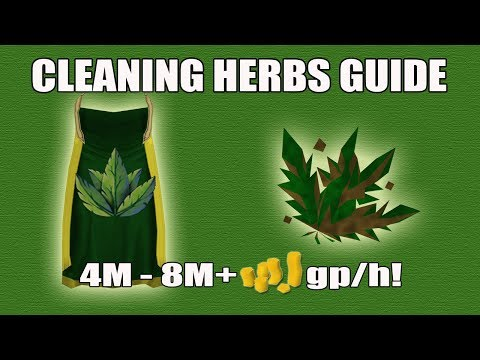 [Runescape 3] Herb Cleaning Money Making Guide Guide | Herblore Skillcape Perk | 4M-8M+ gp/h!