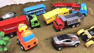Automobile toys!The newly built serial bends are full of vehicles.Kid toy video丨CW Toys TV