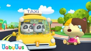Baby Panda Taxi Driver | Kids Pretend Play | Occupation Song for Kids | Super Rescue Team | BabyBus