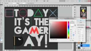 Gamer day design on Photoshop CS5.1