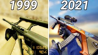 Evolution of AUG in Counter-Strike Games (1999-2018)