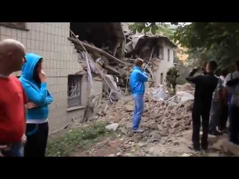 Snezhnoye. Ukraine Airstrike Civilians. 15 July 2014 (Donetsk People's Republic)
