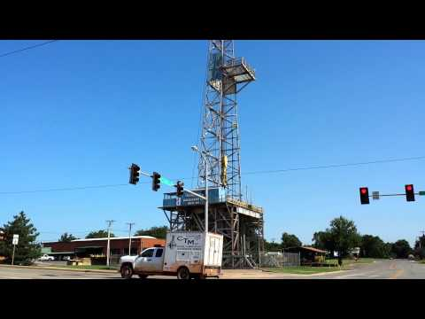 Parker Drilling Rig in Elk City, Oklahoma on US Route 66