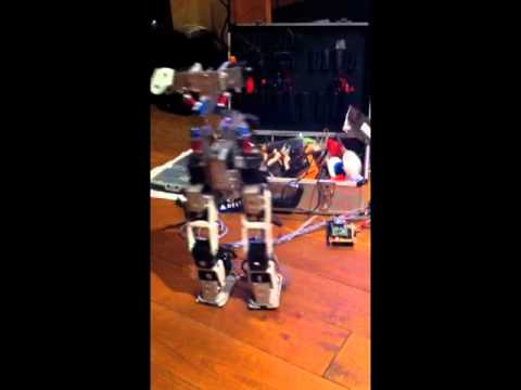 Natural gait of humanoid robot with suspension