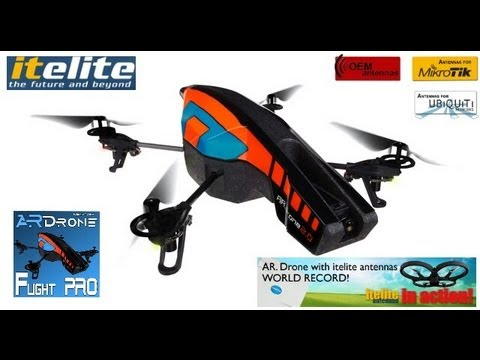 AR.Drone 2.0 - 1.4Mile World record long range FPV quadcopter flight Nexus 7 WiFi boosted
