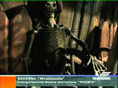Inaugurazione phobia speciale Teleromagna paura e brividi a Mirabilandia