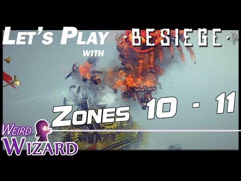 Besiege - Wizard's Sky Ship - Zones 10 - 11