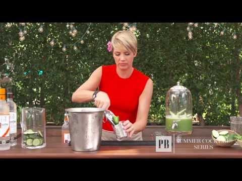 Summer Cocktails: Cucumber Drink | Pottery Barn