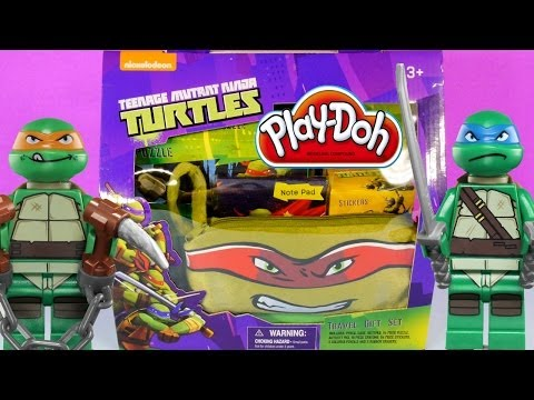 Play-Doh Teenage Mutant Ninja Turtles Surprise Toys Basket How To Make TMNT with PlayDoh