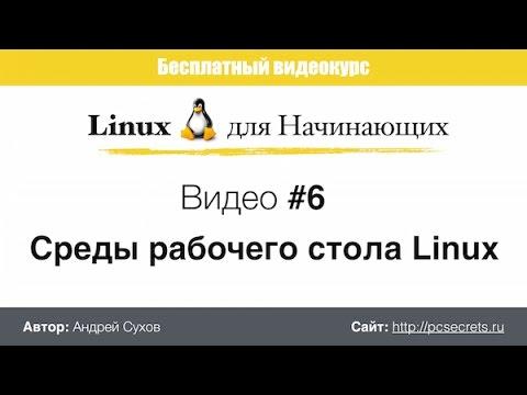 Видео #6. Среды рабочего стола Linux