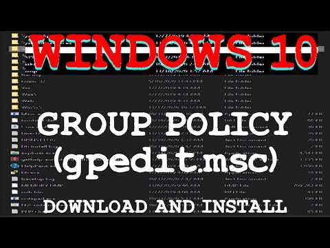 Windows 10 HOME Group Policy Installation (gpedit.msc)