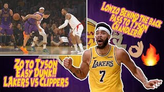 Lonzo Ball Amazing Behind The Back Pass To Tyson Chandler!! Lakers vs Clippers