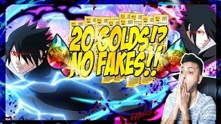 20 GOLDS!? GODLY RATES!! SHINDEN SASUKE BLAZING FEST SUMMONS!! | Naruto Ultimate Ninja Blazing