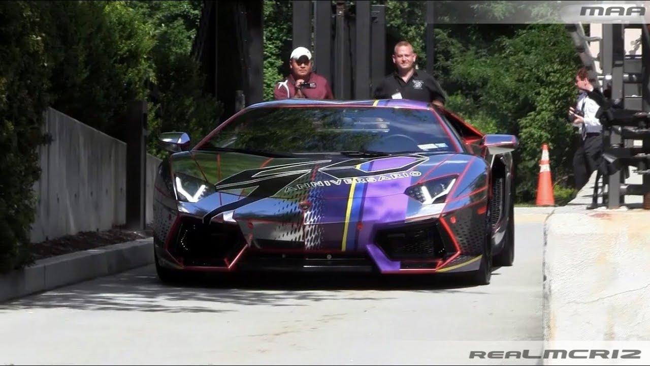 Chrome Lamborghini Aventador Lp 700 4 W Led Lights Revs Team Salamone Youtube