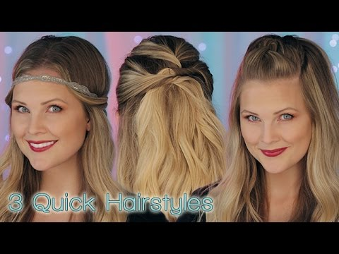 3 Quick Hairstyles!!