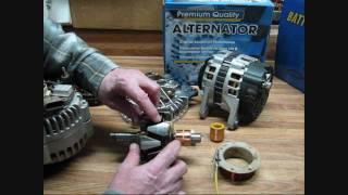 How Alternators Work Part 1, Rotors & Voltage regulators
