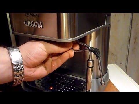 how to change gears on a gaggia brera