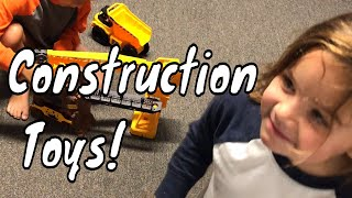 Construction Toys For Toddlers - Construction Toys For Kids Family Fun Toy Videos