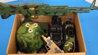 Box of Toys 🔫 Box Full of Toys 🚨 Military Toys 🔫 Toy Guns 💥 Kids Toys 💥 Kids Fun 🔫 Weapons