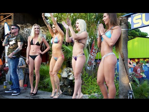 Bikini Contest 2015 at Gilligan's Island Bar Siesta Key Sarasota in 4k UHD