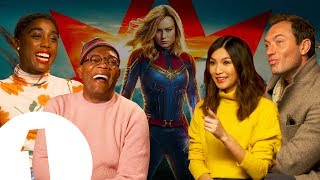 "The Captain Marvel cast on keeping the MCU's secrets: ""I didn't say anything to anyone!"""