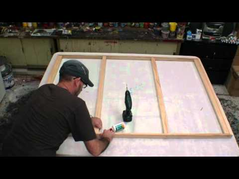 HOW TO MAKE A STRETCH CANVAS FREE LESSON Learn how to make a large canvas art
