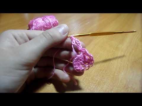 Вязание крючком для начинающих.Бантик.