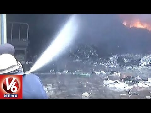 Massive Fire Breaks Out At Scrap Godown In Ludhiana | Punjab | V6 News