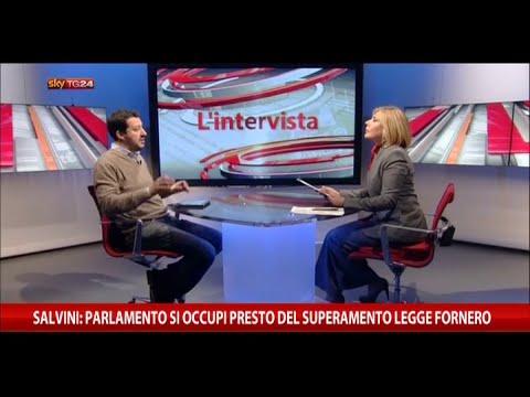 Matteo Salvini intervistato da Maria Latella [SkyTG24, 22/03/2015]