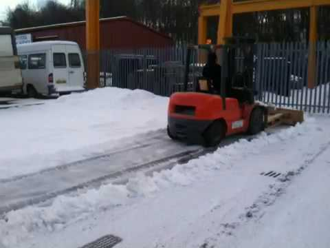 How to make a forklift Snow plough - YouTube