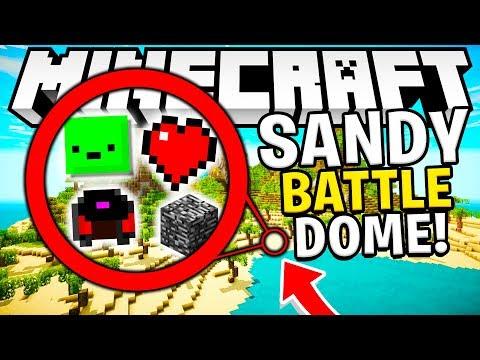 SANDY BEACH MODDED SANDY ISLAND BATTLEDOME OP WEAPONS - MINECRAFT 1.12.2 MODDED BATTLEDOME