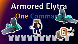 Armored Elytra | One Command Creation | TheBalliBoys